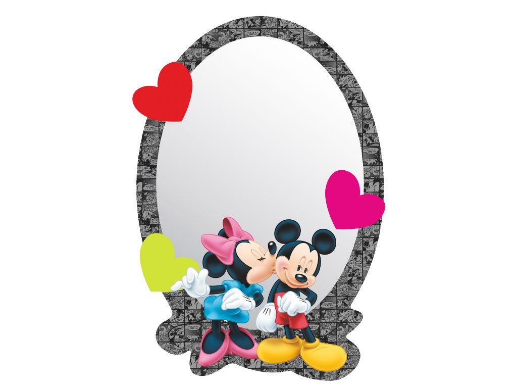 Zrcadlo Disney Mickey a Minnie 15 x 21,5 cm